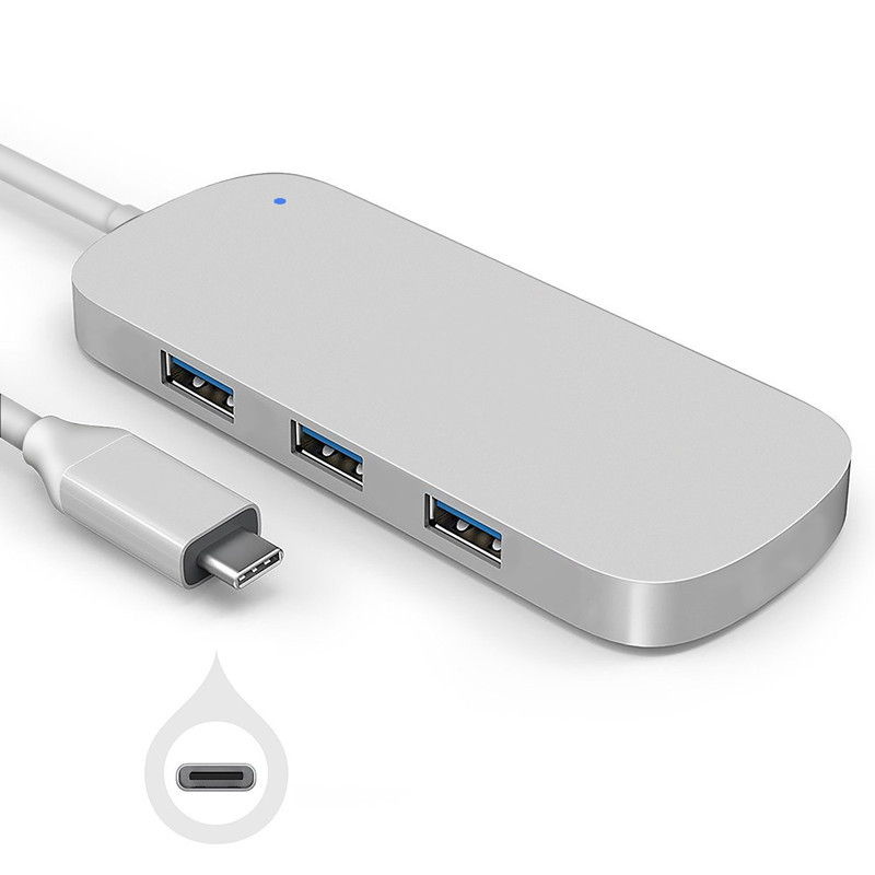 Type-C to USB 3.0 Combo Hub 3 USB3.0 Ports with SD/SDHC/Micro SD Card Reader Adapter High Texture for MacBook Google Pixel UY03