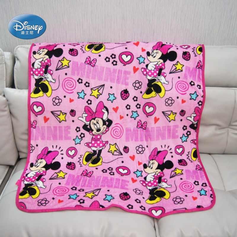 disney minnie mouse manta lightweight blanket throw for girls kids on crib plane summer baby girls sleeping covers 100x120cm