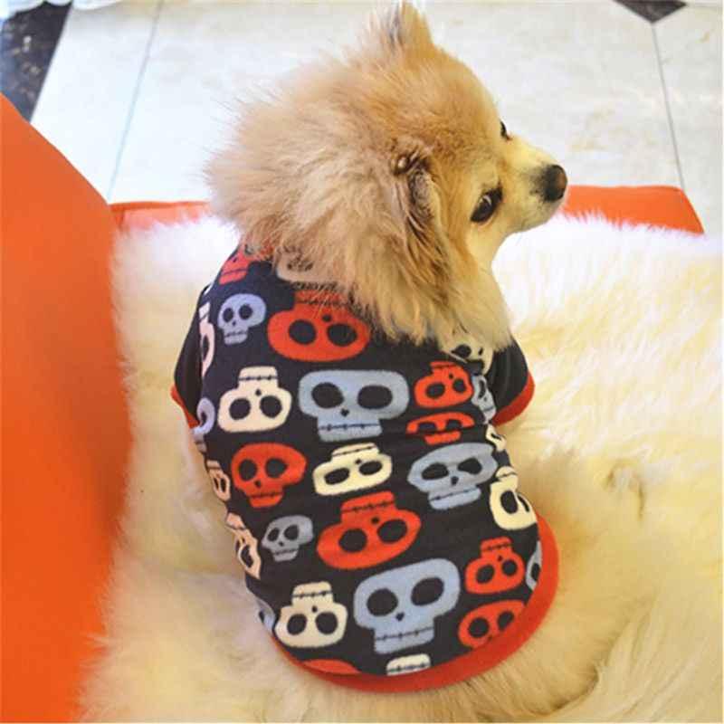 Зимняя для домашней собаки пуловер Одежда милый Рождественский леопард рубашка в горошек костюм маленький такса одежда для котят и щенков для собак