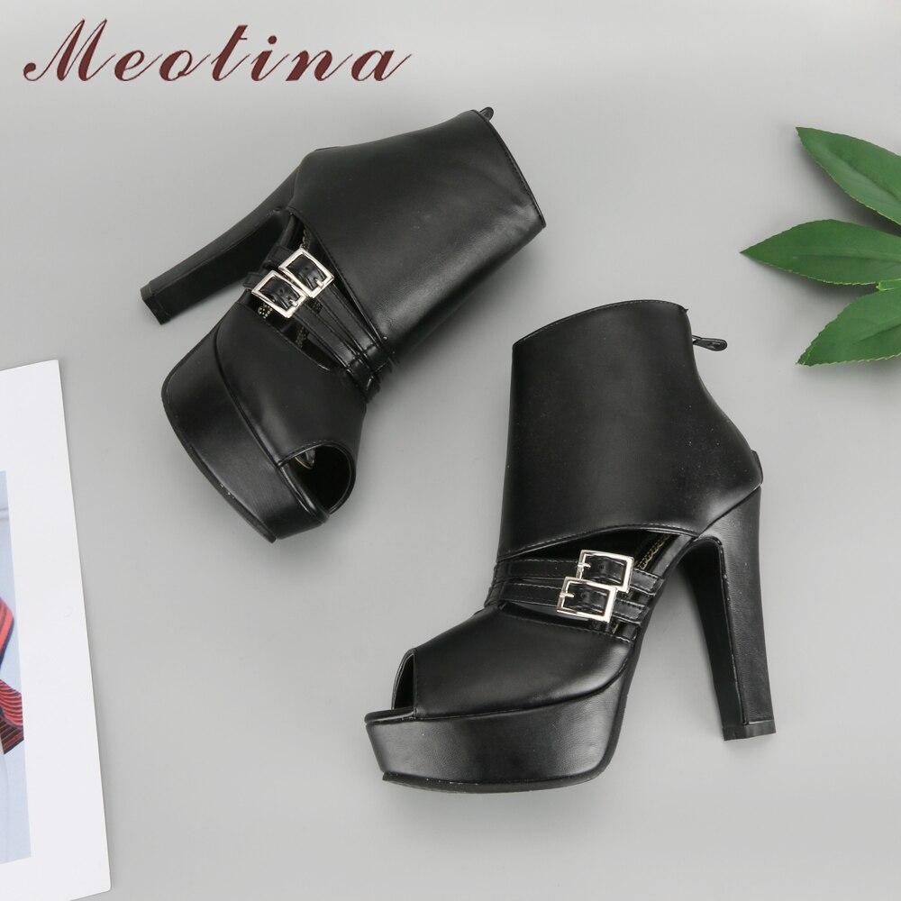 forme 2018 Noir Printemps Aiguilles Dames 34 Peep Toe blanc Taille Haute Pompes Talons Meotina Boucle Femmes Partie jaune Zip Chaussures Plate Jaune 43 nxPSqgX7R