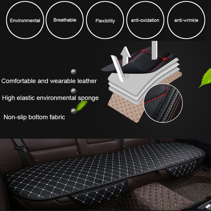 Image 3 - Automobiles Seat Covers Car Cushion PU Leather Universal Auto Interior Accessories Four Season Protect Set Chair Mat Car styling
