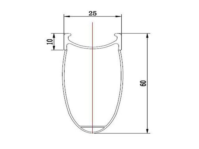 Gentil 60mm Clincher Alloy Brake Surface 25mm Width 700C High Quality Door To Door  Service,full