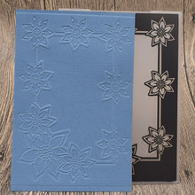Flowers Frame Plastic Embossing Folders DIY Scrapbooking Card Making Paper Craft Template