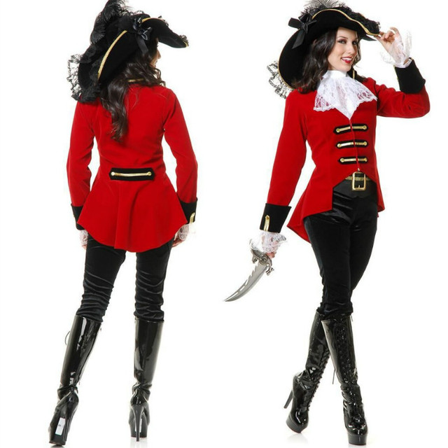 CFYH 2018 New Red Sexy Pirate Costume Female Pirate Fancy Dress Costumes Pirates Cosplay for Girls  sc 1 st  AliExpress.com & CFYH 2018 New Red Sexy Pirate Costume Female Pirate Fancy Dress ...