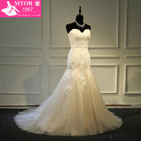 Designer Sexy Mermaid Lace Wedding Dress Shiny Beading Belt Bling Bling Skirt Champagne Robe De Mariage