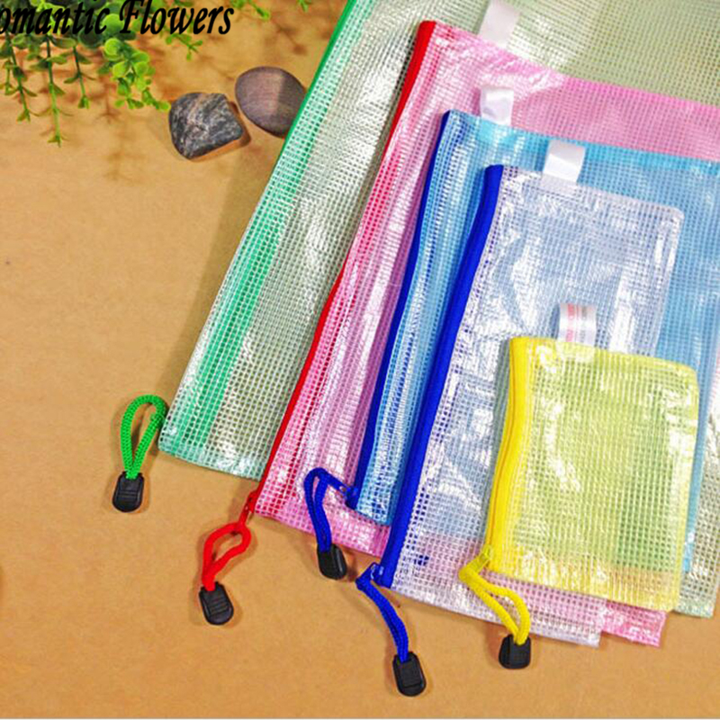 Aliexpress Mesh Zipper Paper Bags Waterproof Folder The Office Of Student A4 A5 B4 B5 Send Random Colors From Reliable