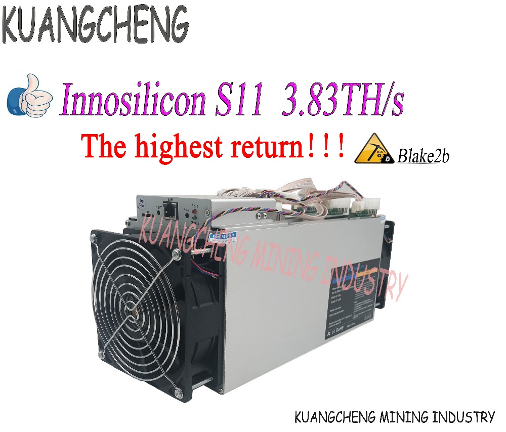 New Miner Innosilicon S11 3.83TH/s Siacoin Mining ASIC Miner  Blake2b SC Mining Machine Better Than ANTMINER A3