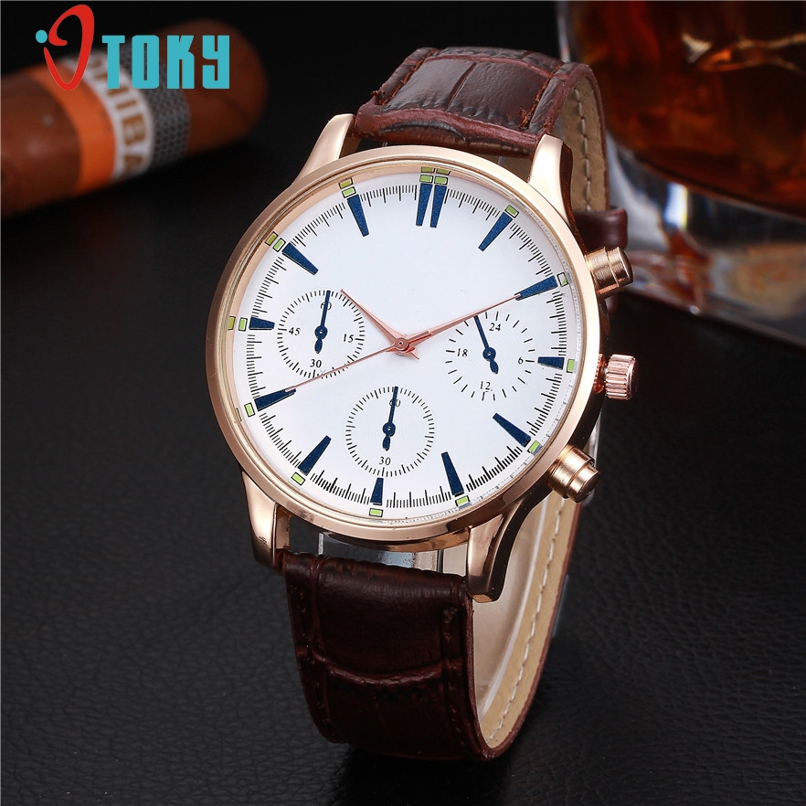 OTOKY Men watch Luxury Watches Quartz Clock Fashion Leather belts Watch Cheap Sports wristwatch relogio male Gift 1pcs new listing pagani men watch luxury brand watches quartz clock fashion leather belts watch cheap sports wristwatch relogio male