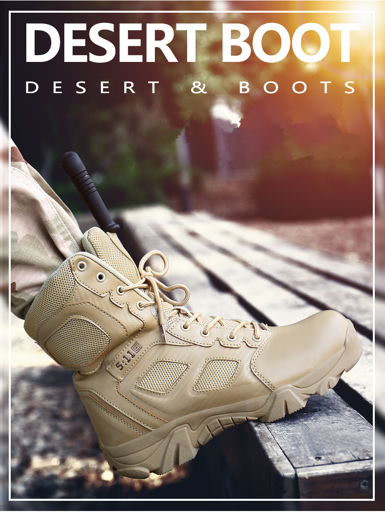 Brand Men\'s Boots Big Size Military boot Chukka Ankle Bot Tactical Army Male Shoes Safety Combat Mens Motocycle Boots (4)