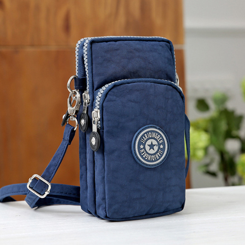 Small Shoulder Bags High quality Female nylon phone Bags mini Women Messenger Bags Women Clutch New 2018 title=