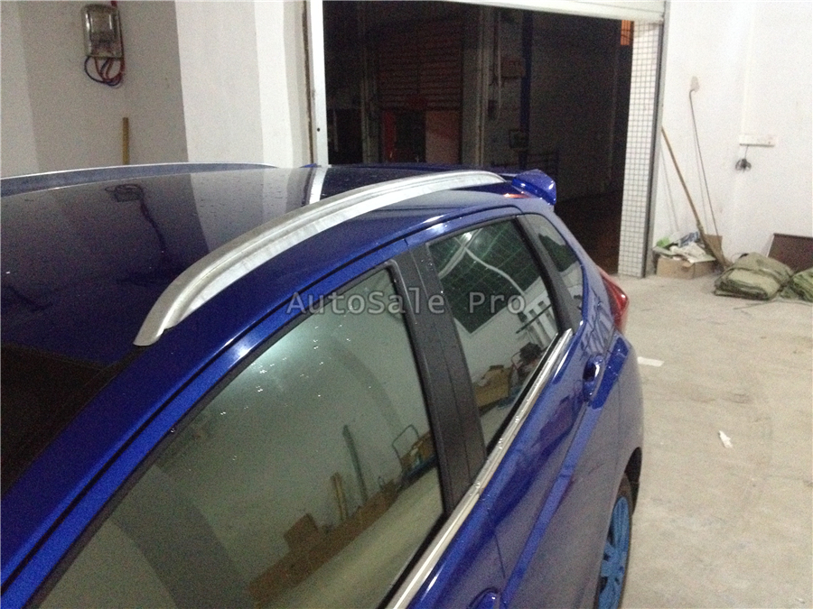 For Honda fit 2014 2015 2016 2017 2018 Aluminium alloy Silver Top Roof Rails Rack Side Bars Decoration Trim car styling
