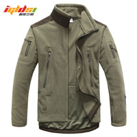 Tactical Military Fleece Jacket 2018 New Men Winter Thermal Shark Skin Patch Camp Hunt Jackets Warm Army Clothes Outwear Coats