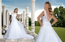 2016 Exquisite Beautiful Ball Gown Wedding Dresses with Appliques Sleeveless Floor Length Court Train Wedding Gowns ZY 237