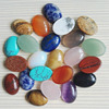 Wholesale 13x18MM assorted Natural Stone Beads Oval shape CAB CABOCHON 30pcs/lots for jewelry making DIY beads Free shipping