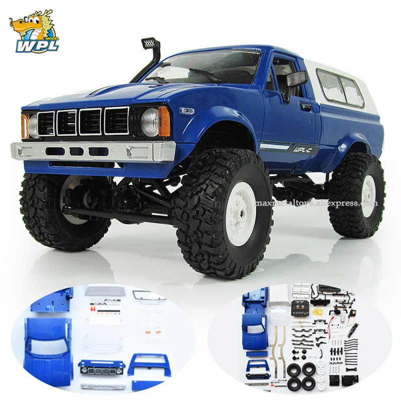 WPL C24 RC Turck 1:16 Car KIT DIY Remote Control Car 2 4G RC Crawler  Off-road Car Buggy Moving Machine RC Car 4WD Kids Boys Toy