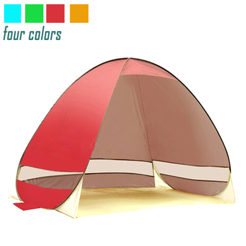 Tent Beach Tent Sun Shelter UV-Protective Quick Automatic Opening Tent Shade Lightwight Pop Up Open For Outdoor Camping Fishing image