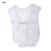 Newborn Baby Girls Clothes Lace Deep-V Backless Romper Jumpsuits Photography Prop Accessories Outfit Baby Gift стоимость