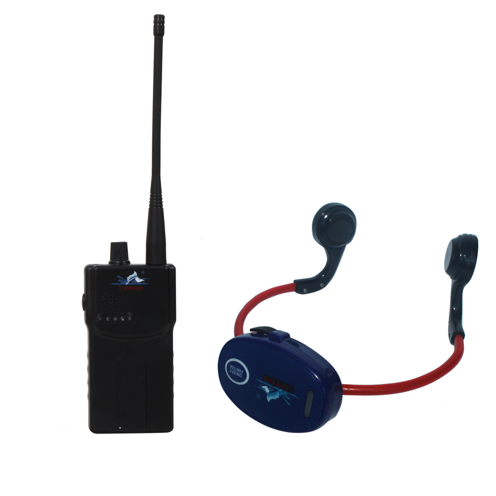 Bone Conduction Swimming Teaching Gadget For Swimming Club With 1 Walkie Talkie + 10 Waterproof Headphone Receivers+1 Microphone