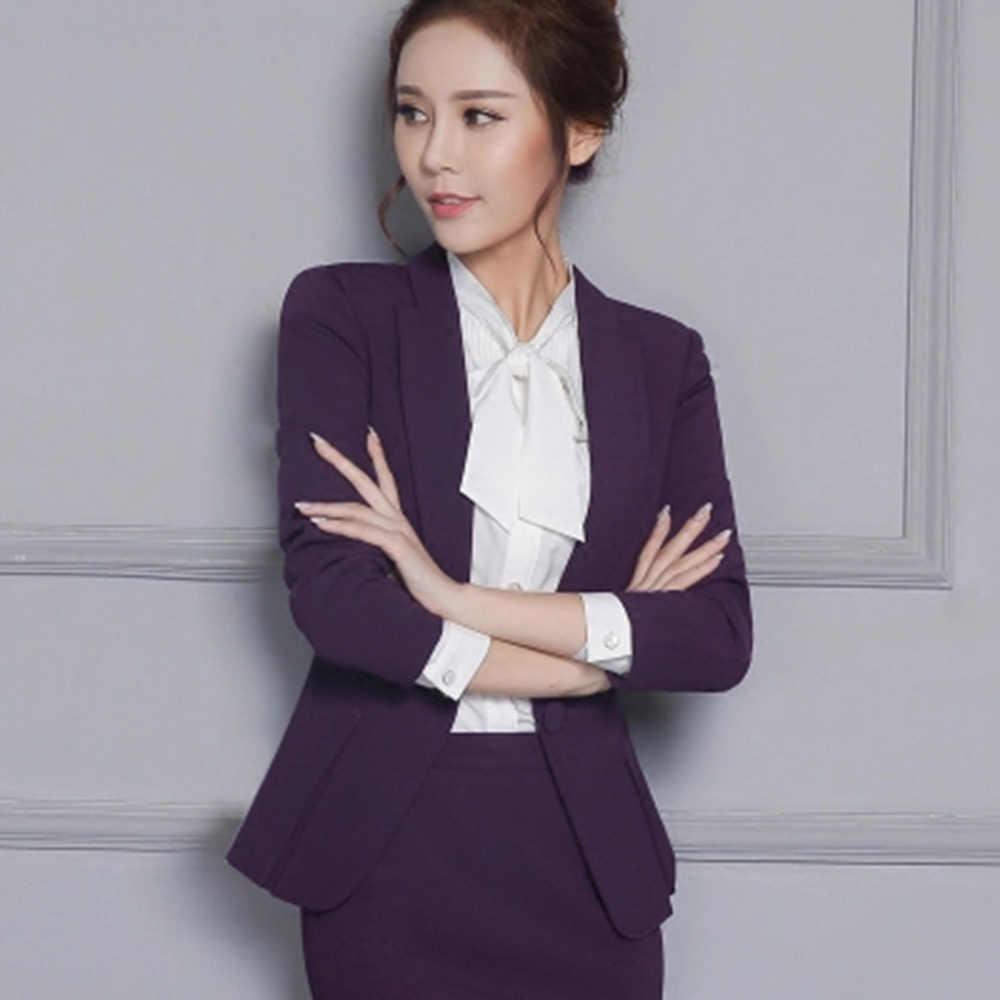 Uniform Women Blazer Slim Top Elegant