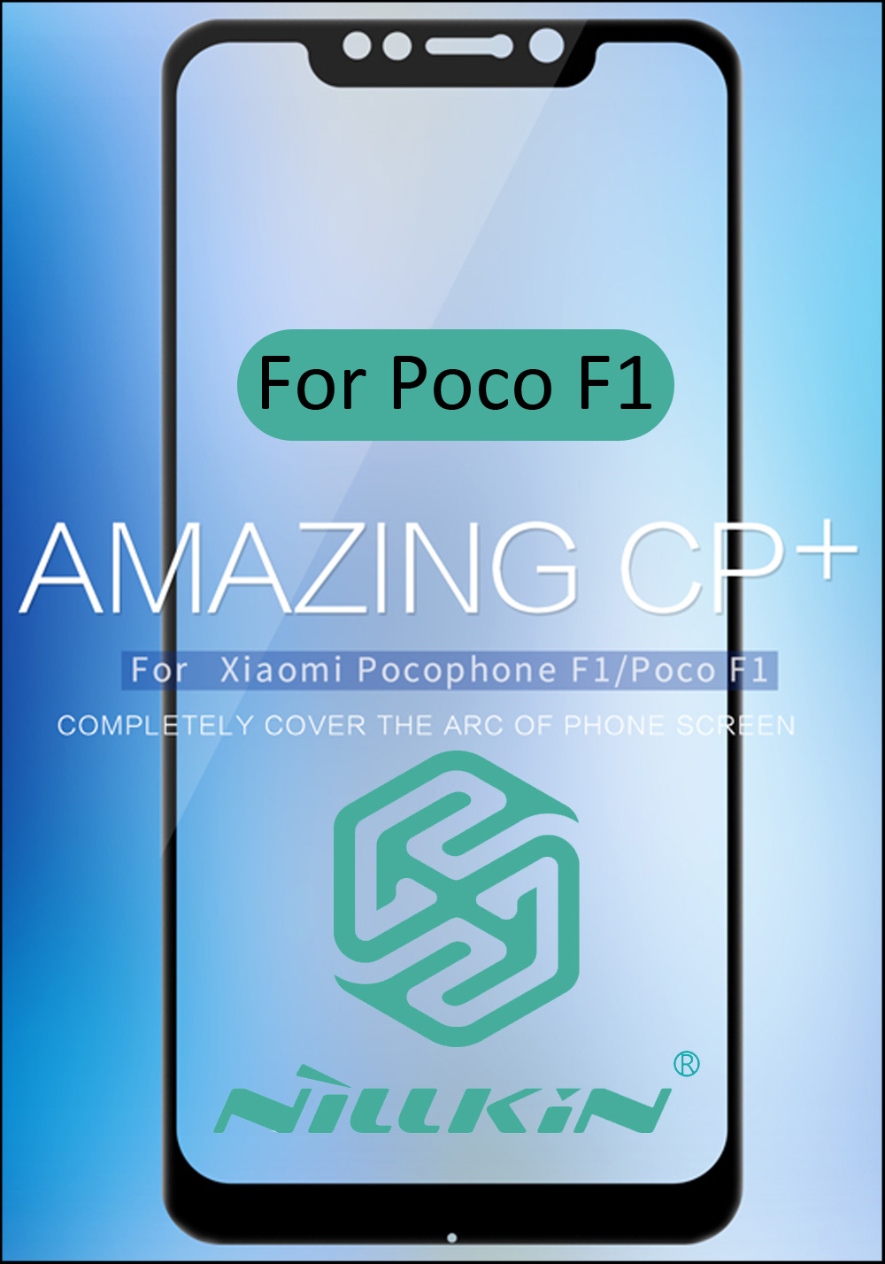 Nillkin CP+ Tempered Glass For Xiaomi Pocophone F1 Poco F1 Full Screen Cover Protective oleophobic Full panel glue