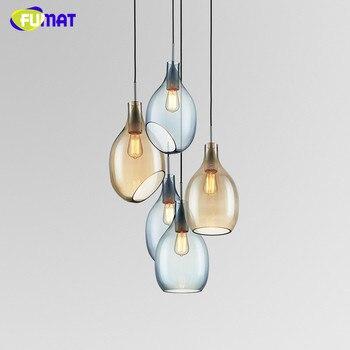 FUMAT זכוכית תליית אור מודרני פשוט נורדי אור תליון מנורת חדר אוכל זכוכית מעצב