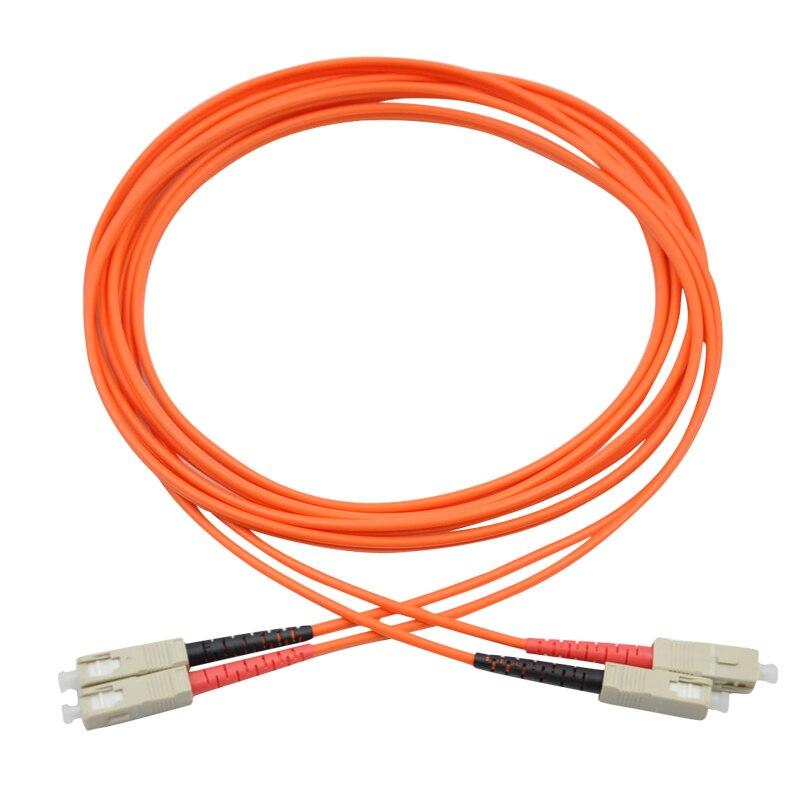 10 Meters Sc-sc Fiber Optic Cable Multimode Duplex Patch Cord Om1 62.5/125 10m Large Assortment