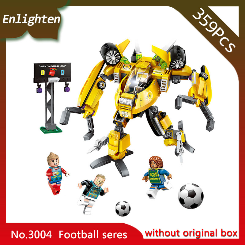 Enlighten 3004 359pcs Super Soccer Defensive Zone Robot Building Blocks Educational Toys Children Gift
