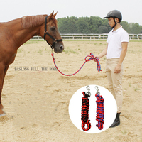 Durable Heavy Duty Horse Riding Braided 2M Equestrian Lead Rope With Sturdy Clasp 18mm Thickness Horse