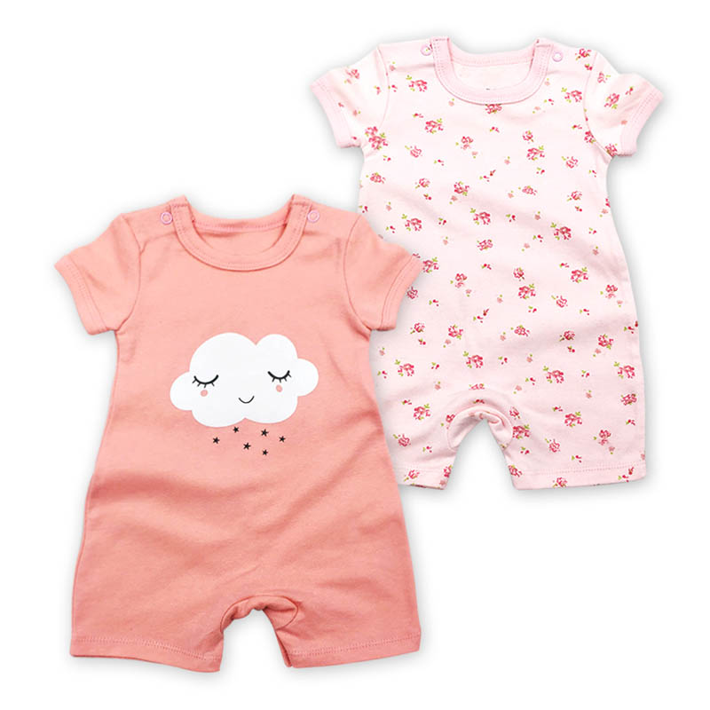2pcs/lot Jumpsuit Baby Boy Summer Romper Newborn Striped Baby Girl Clothes Rompers Short Sleeve Baby Boy Overalls For Newborns
