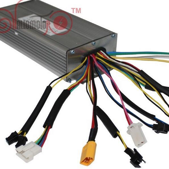 Black 36V/48V 1200W Brushless DC Sine Wave Ebike Controller 12MOSFET35A With Regenerative and Reverse Function For Electric Bike regenerative nephrology