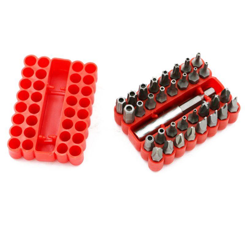 33 Stücke Schrauben Sicherheit Tamper Proof Spanner Flügel Schraubendreher-bits Mit Magnetischer Halter Bohrer Werkzeuge Heißer Verkauf