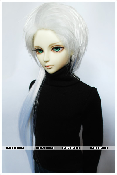 1/3 1/4 BJD Doll wig  white long hair 30CM