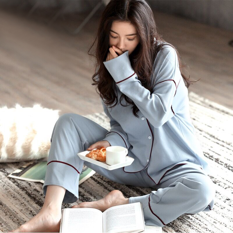 Cotton Postpartum Women Lactation Pajamas Home Leisure Maternity Nightwear Breastfeeding Nursing Pajamas for Pregnant Women диск x