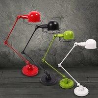Современные длинные кулисой Регулируемый Утюг стол Лампы для мотоциклов E14 LED 220 В Настольная лампа с выключателем для чтения ночник главная