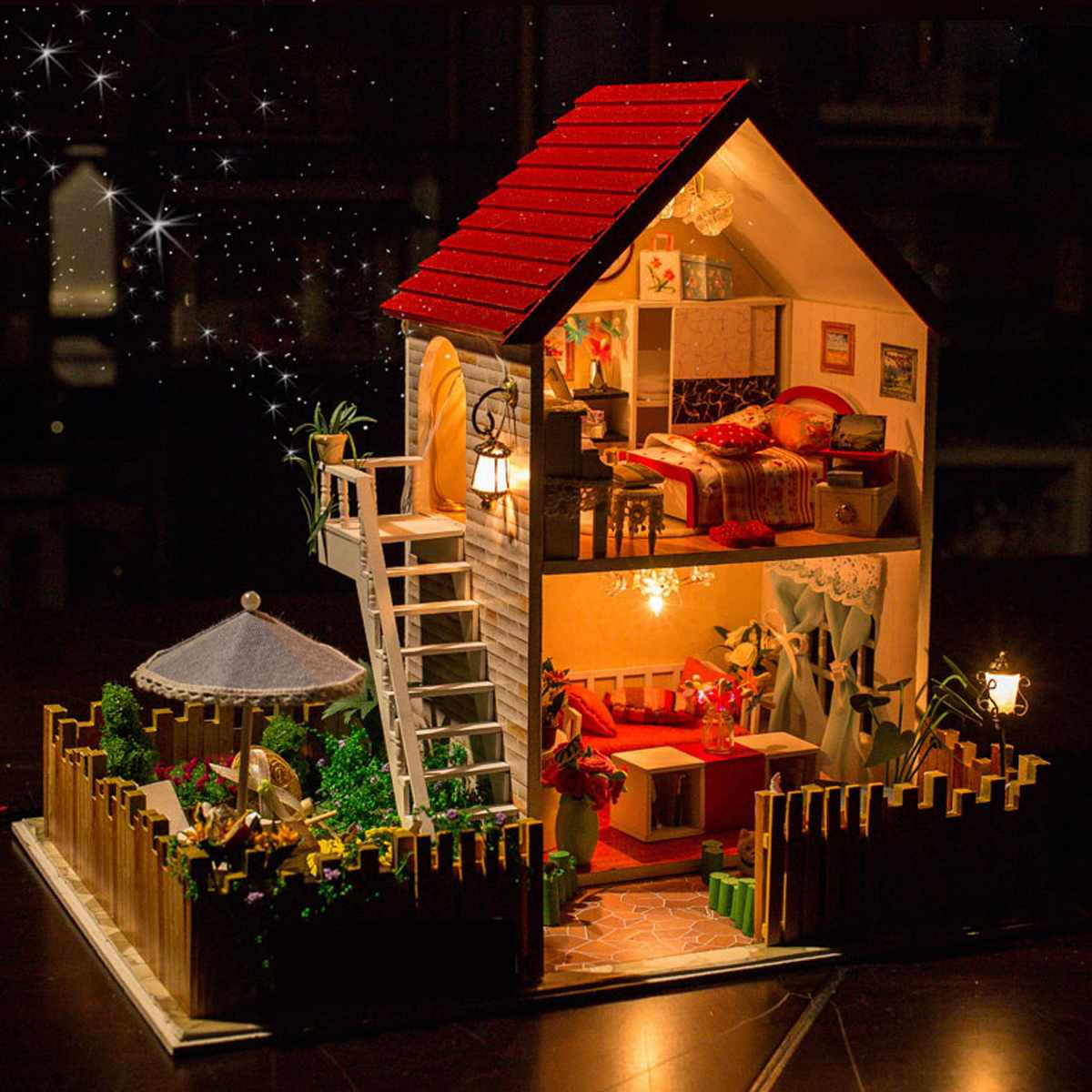 The Star Dreaming House DIY Dollhouse With Light Music Miniature Model Gift Decor Toy Gift For Friend ChildrenThe Star Dreaming House DIY Dollhouse With Light Music Miniature Model Gift Decor Toy Gift For Friend Children