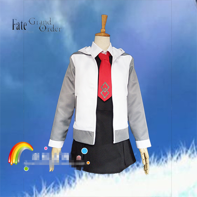 Mash Kyrielight Fate/Grand Order Cosplay mash cosplay costume daily suit Jacket skirt tie costuem made 2