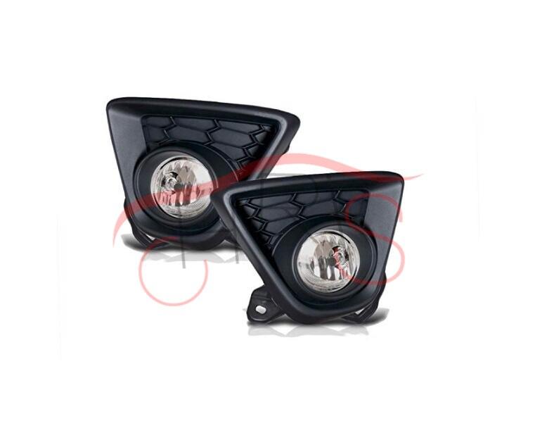 Clear Lens Gloss Black Fog Light Lamps With Wiring Kit For Mazda CX-5 2013-2015 free shipping fog light set fog lights lamp for toyota vios 2013 on clear lens pair set wiring kit