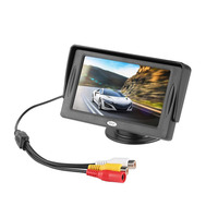 New 4 3 Inch HD Car Rear View Monitor 2 Video Input TFT LCD Color Display