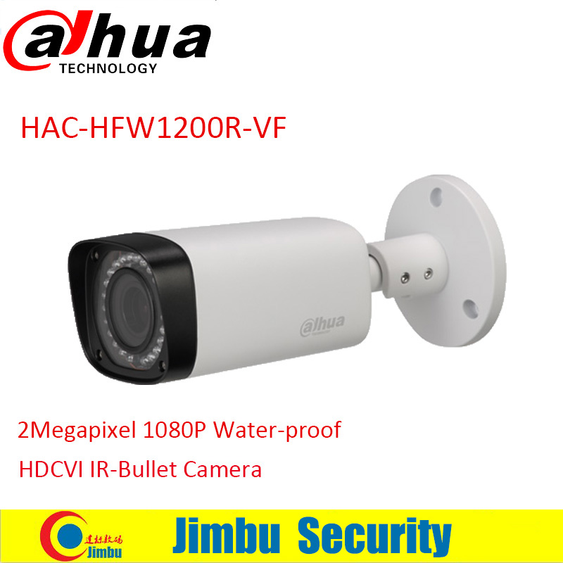 DAHUA HDCVI Bullet Camera HAC-HFW1200R-VF 1/2.7 2Megapixel CMOS 1080P IR 30M IP67 2.7~12mm vari-focal lens security camera dahua 2mp hdcvi camera cctv 1080p water proof ip67 hac hfw1200s bullet camera lens 3 6mm ir leds length 30m mini security camera