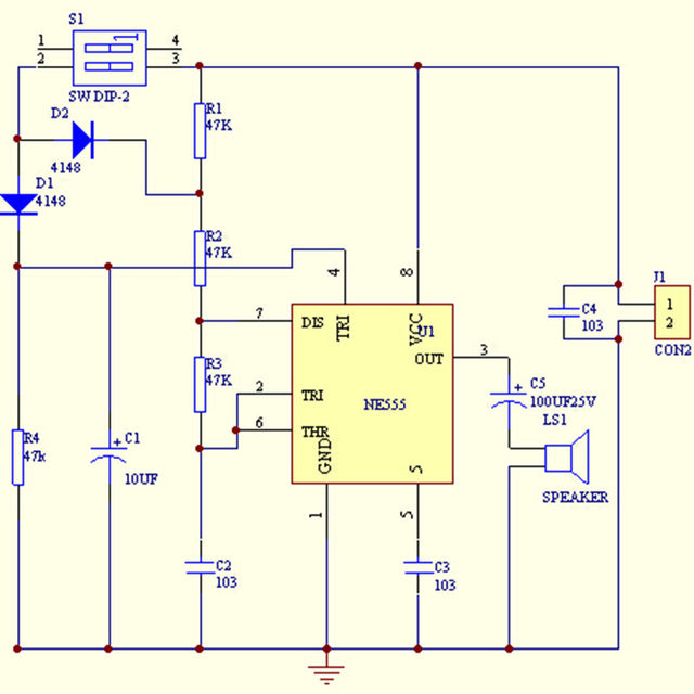 Online Shop 1PCS NE555 Buzzer DIY Electronic KIT Tone Generator ...