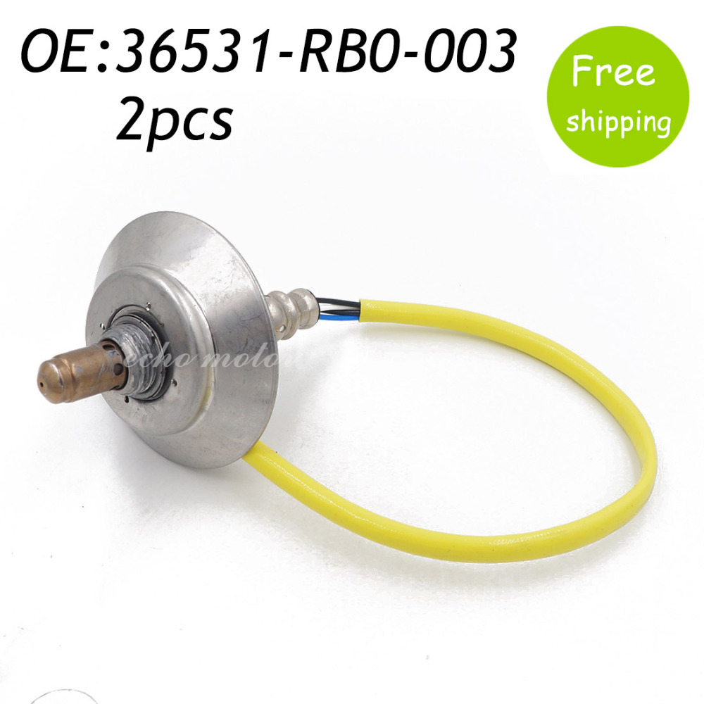 New 2pcs O2 Oxygen Air Fuel Ratio Sensor For 2009-2011 Honda Fit 1.5L l4 36531-RB0-003 36531RB0003 211200-2572,234-9077,2349077 wholesale 1 piece new oxygen sensor o2 for bmw e60 e61 e65 e66 545i 745i 760i 745li 11787521705