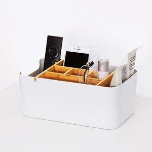Image 5 - オリジナル Xiaomi Mijia 竹ファイバー着脱式オーガナイザーボックスサブグリッドデザイン化粧品収納ボックスのための浴室