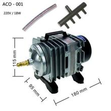 ACO-001 Electromagnetic Air Pump for Aquarium Pond Hydroponi 18W 220v aquarium air pump fish tank oxygen airpump akvaryum pump