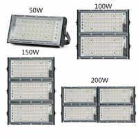 LED COB iode tungste lampe haute puissance 50 W 100 W 150 W 200 W lumière d'inondation AC 220 V projecteur réflecteur éclairage extérieur publicité
