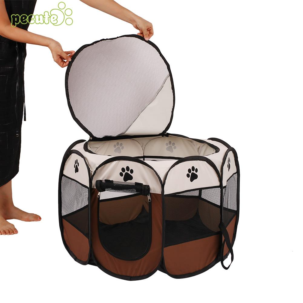 Foldable Dog Puppy Pet Play Soft Playpen Exercise Tent Cage Fence Crate Kennel
