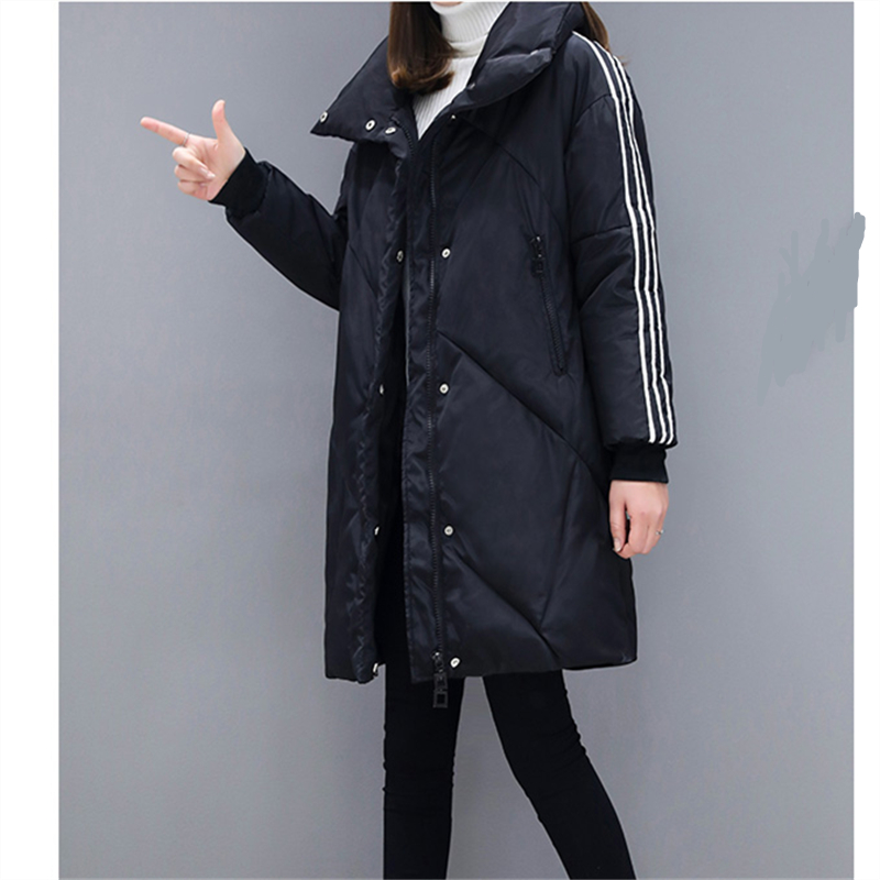 Nouvelle D'hiver Coton Femelle Grande Mode Épaisse Black H0271 Femmes Taille Veste red De Manteau Mince 2018 8nwm0vN