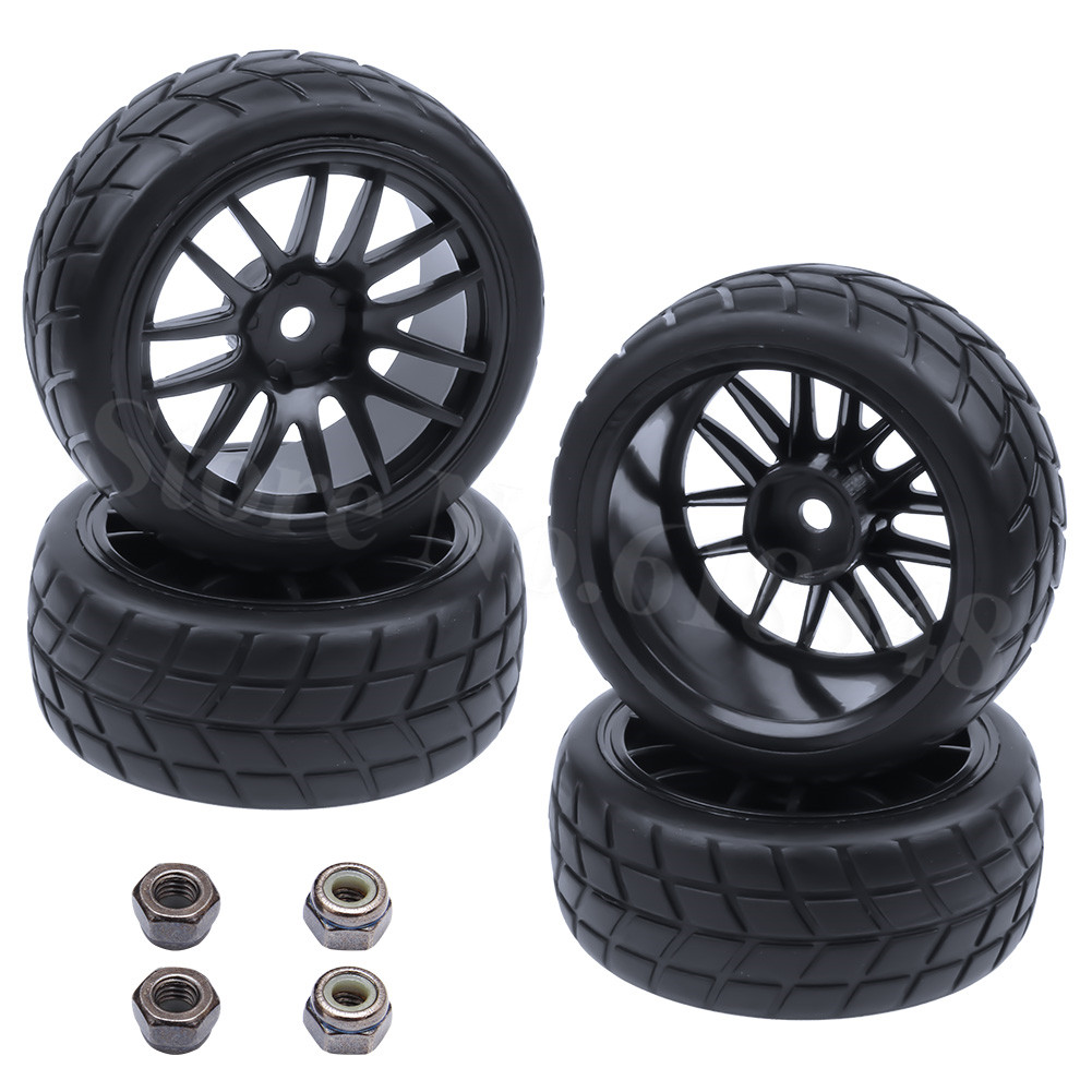 4 Unids / lote RC Neumáticos Ruedas 26mm Hexagonal 12mm Con Nylon - Juguetes con control remoto - foto 5