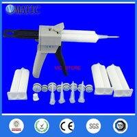 Free Shipping Ab Glue Dispensing Cartridge 2:1 & 1:1 Universal 50ml/cc Manual Dispensing Gun With Cartridge & Static Mixer Tubes