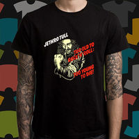 New Jethro Tull Too Young To Die Logo Men S Black T Shirt Size S To