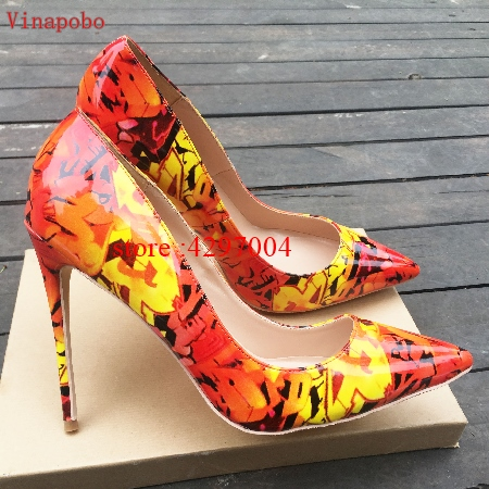 Vinapobo 2019 Fashion Stiletto high heels shoes woman party wedding shoes lady pumps slip on spring